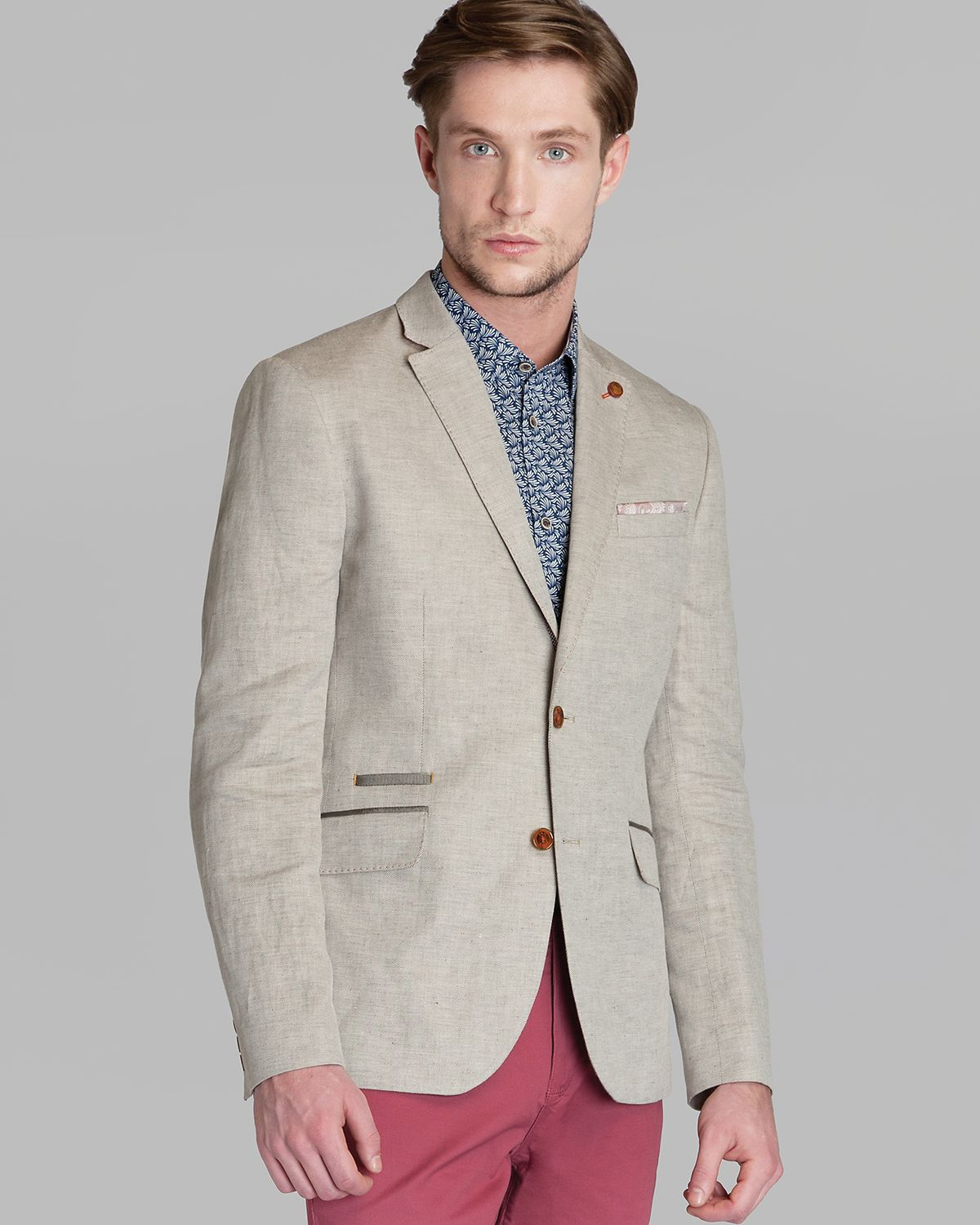 Ted baker Dainy Linen Blazer in Natural for Men | Lyst