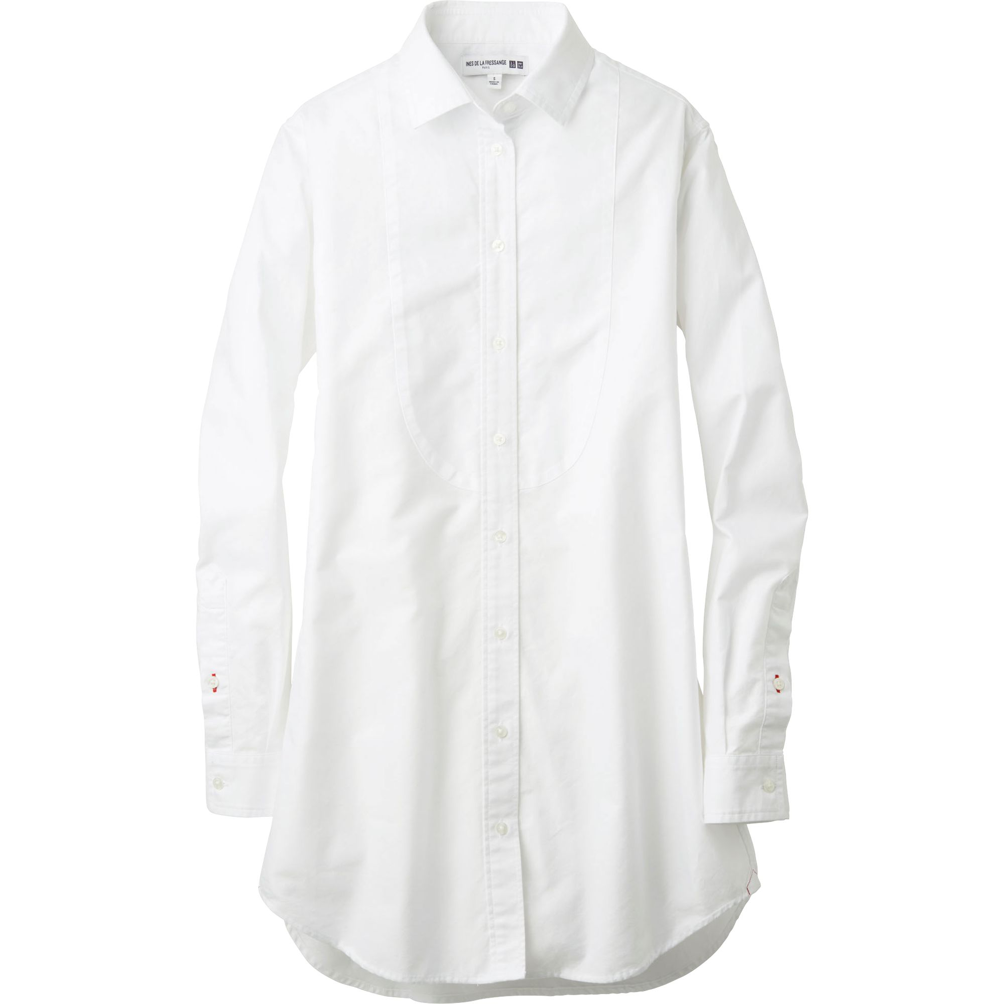 Uniqlo Women Idlf Oxford Long Sleeve Long Shirt In White