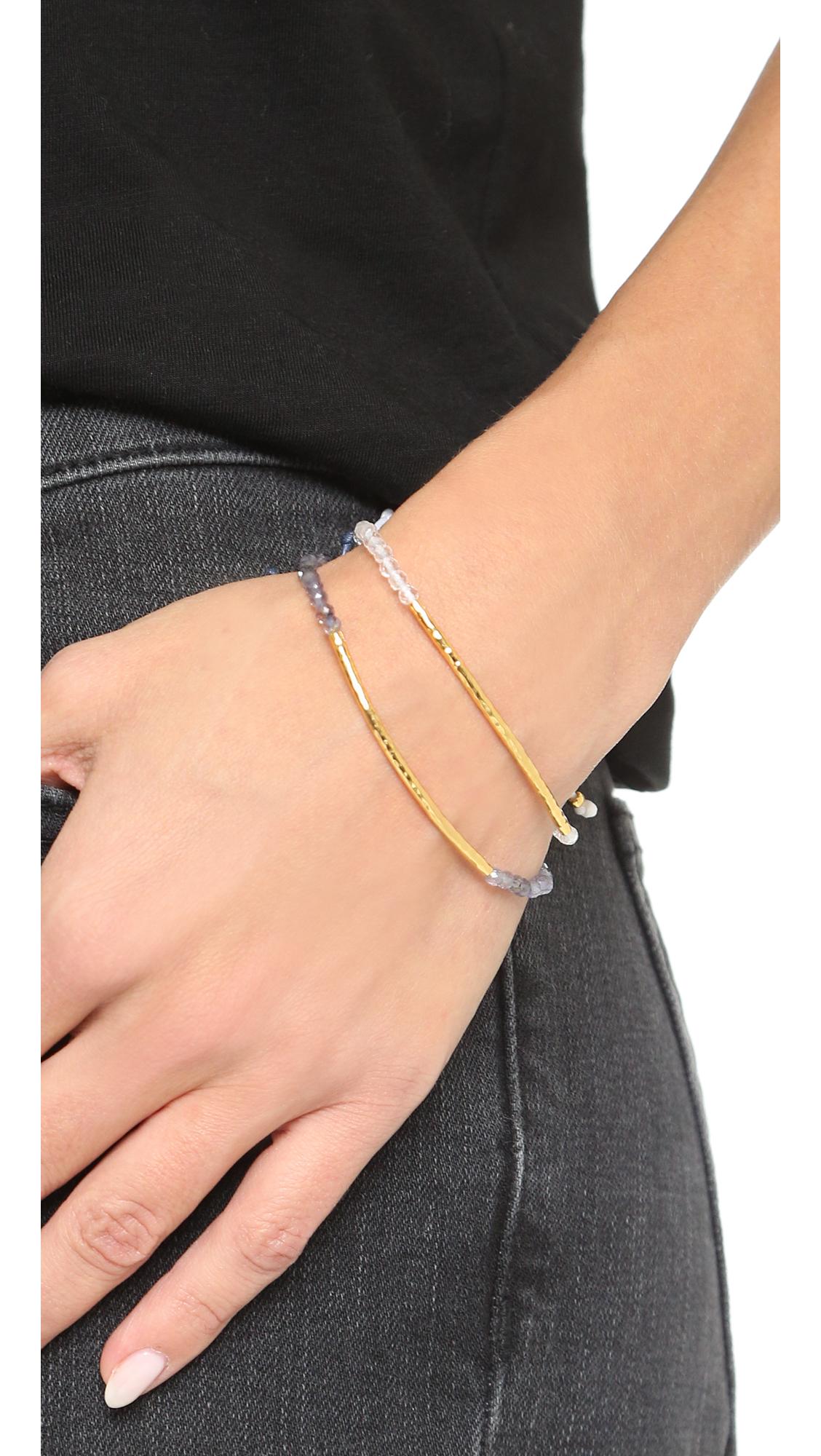 Gorjana Taner Gemstone Bracelet in Black bPOnWl9GJ