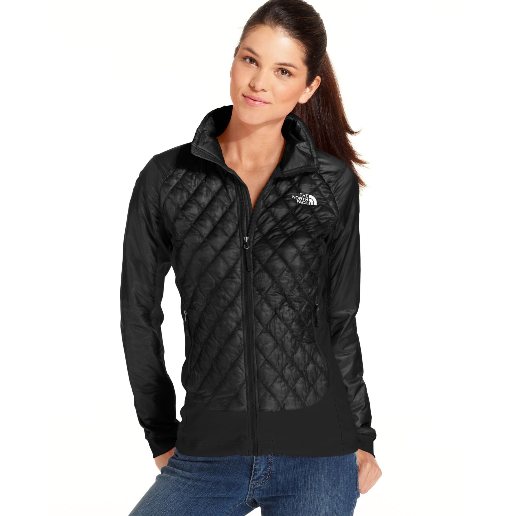 Lyst The North Face Thermoball Quilted Jacket In Black