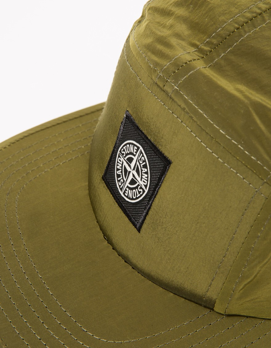 Stone Island Nylon Metal Cap In Olive Green In Green For