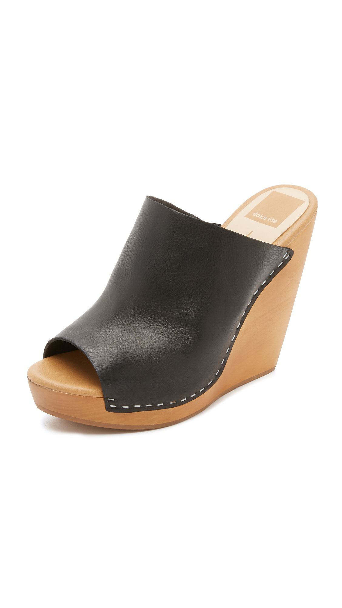 dolce vita connee wedges in black lyst