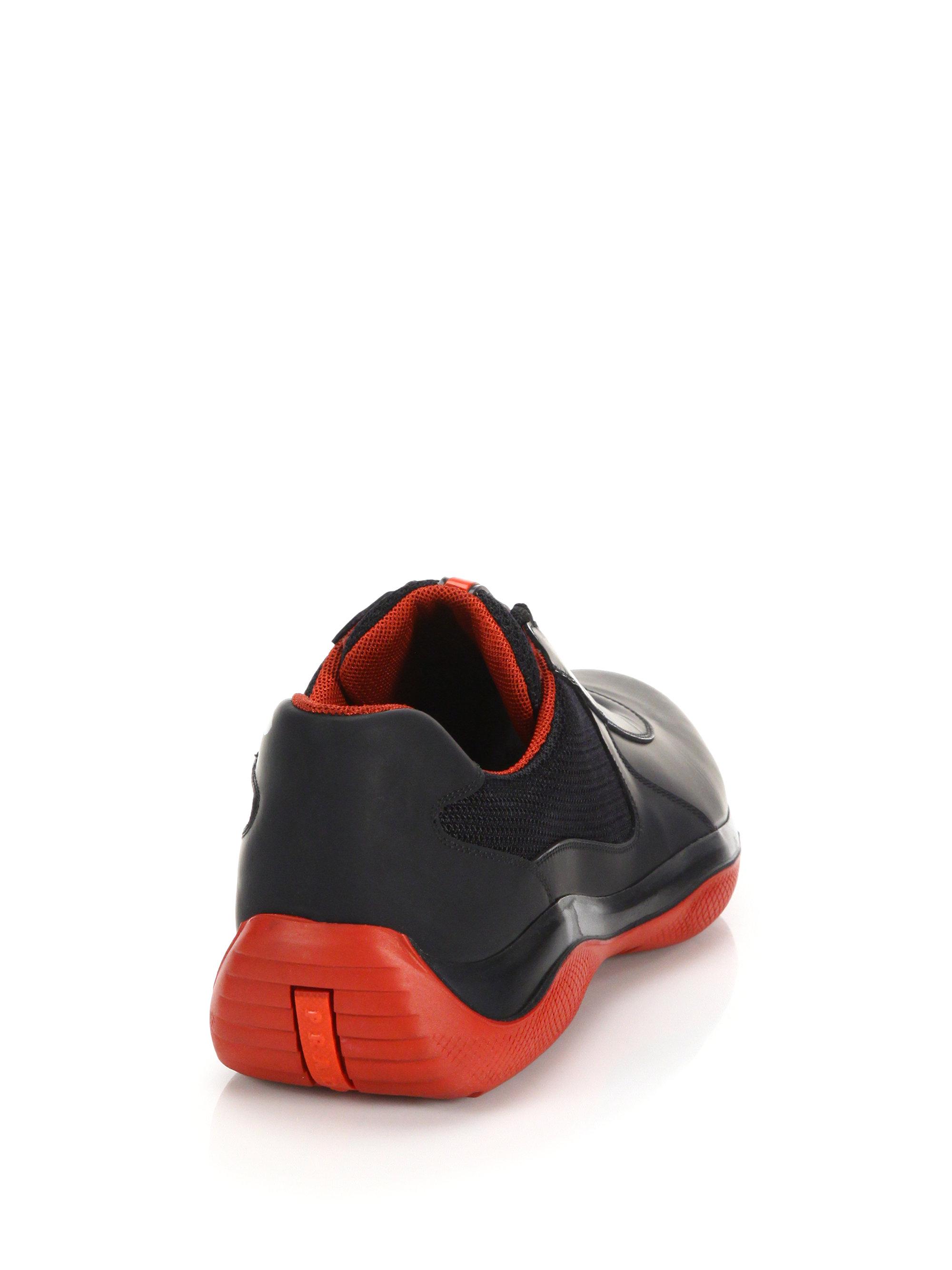 d59ecdd8 where can i buy prada sneakers orange red 27087 6ff19