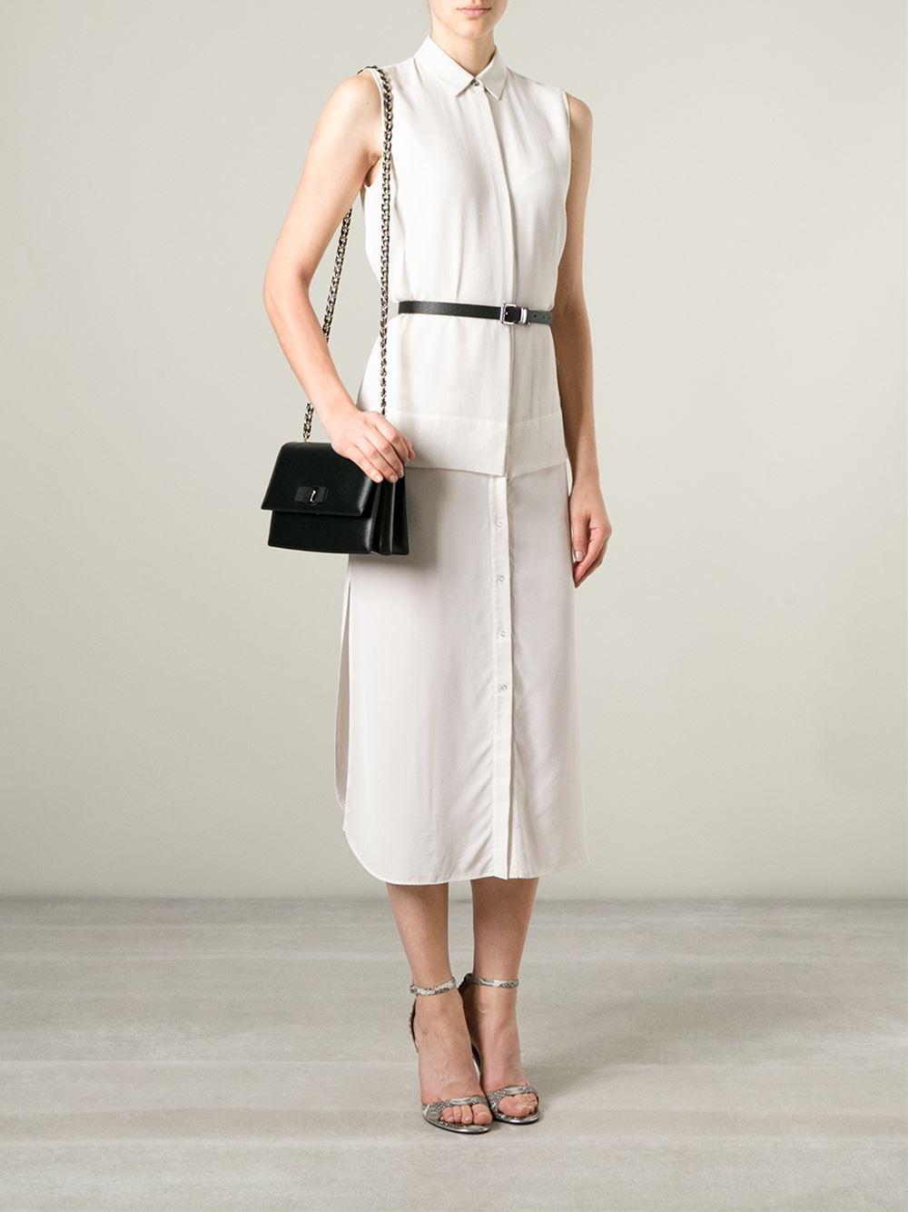 5313d2557d7 Lyst - Ferragamo Ginny Shoulder Bag in Black