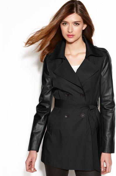 black leather trench coat imported genuine leather fashion long coat
