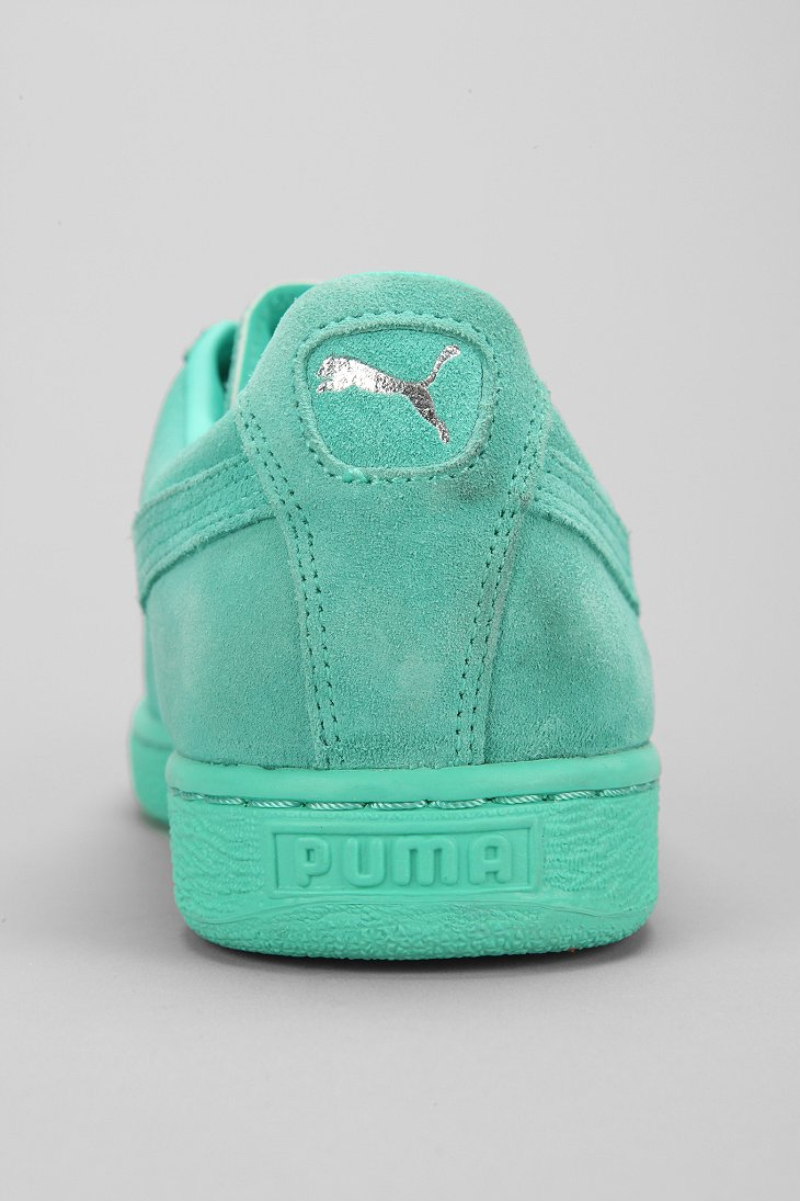 3d78e478d2c Lyst - PUMA Classic Mono Suede Sneaker in Green for Men