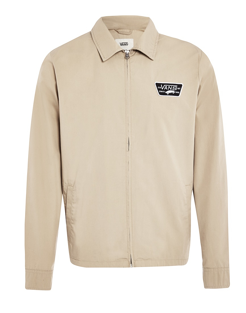cb906a731ce Vans Station Lightweight Twill Jacket in Natural for Men - Lyst