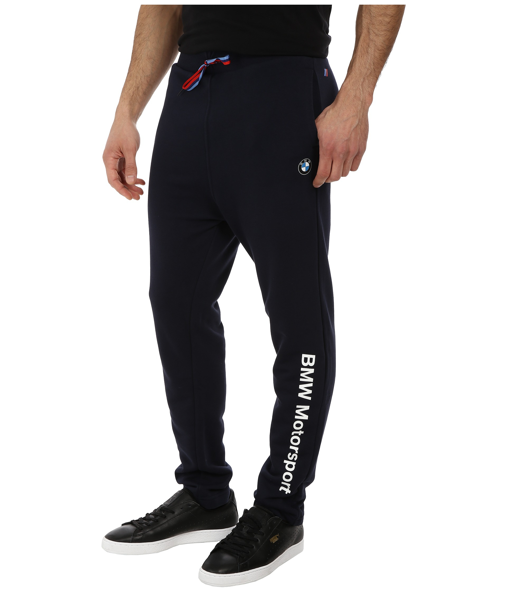 Puma Bmw Closed Sweatpants In Blue For Men Lyst