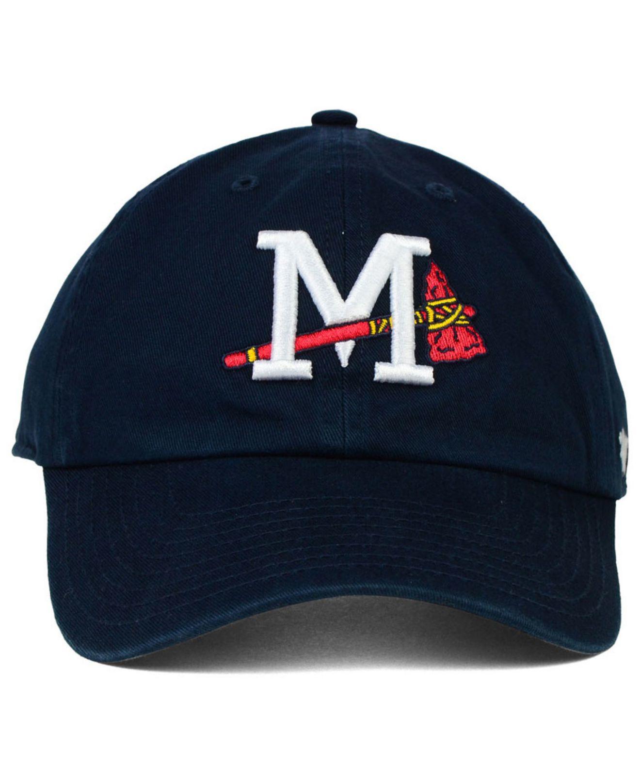 79af91f85de canada lyst 47 brand mississippi braves clean up cap in blue for men 4f2a7  4b708