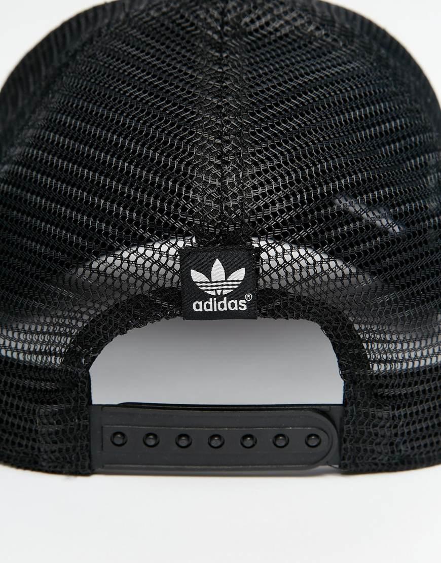b97de741edf ... release date lyst adidas originals trucker cap in black for men 1c401  de53e