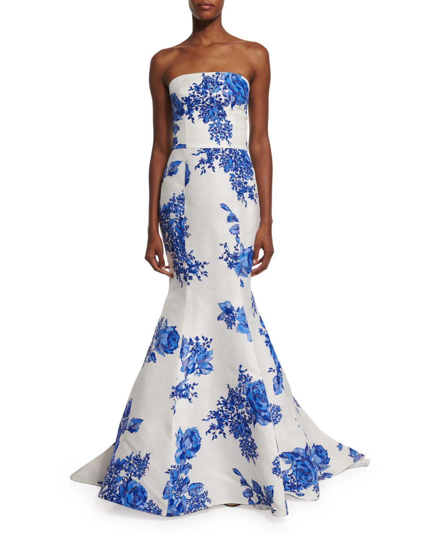 Floral Mermaid Gown