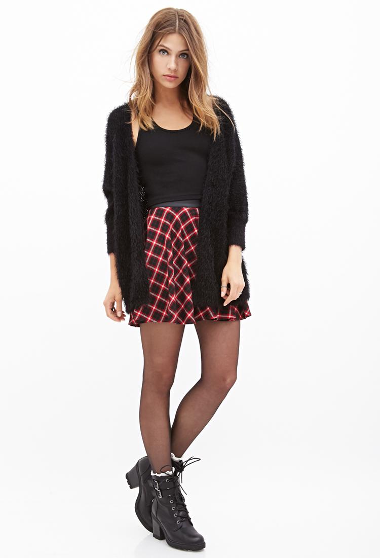 Lyst Forever 21 Plaid Skater Skirt You Ve Been Added To