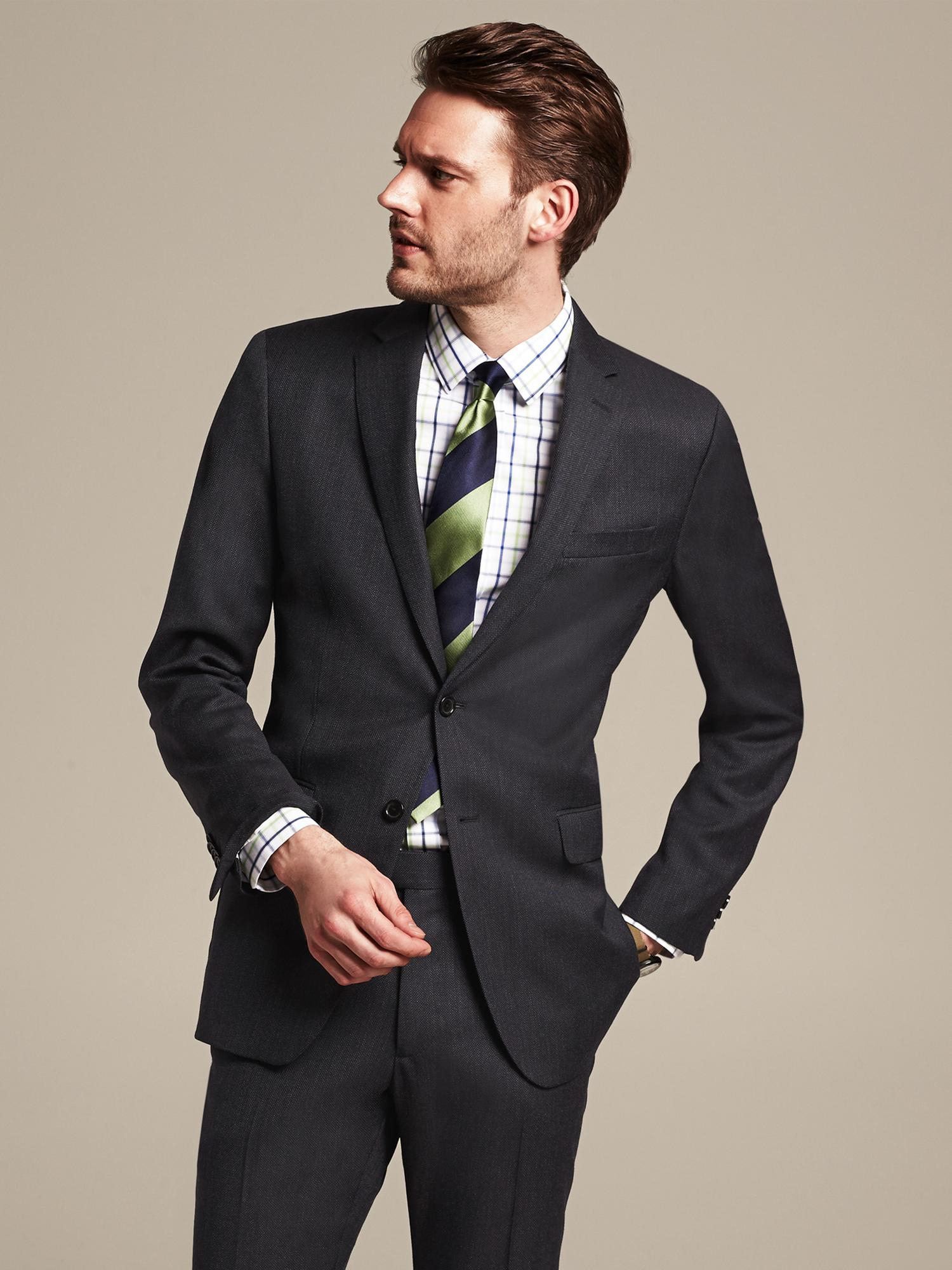 Banana republic Modern Slim-fit Navy Birdseye Wool Suit ...