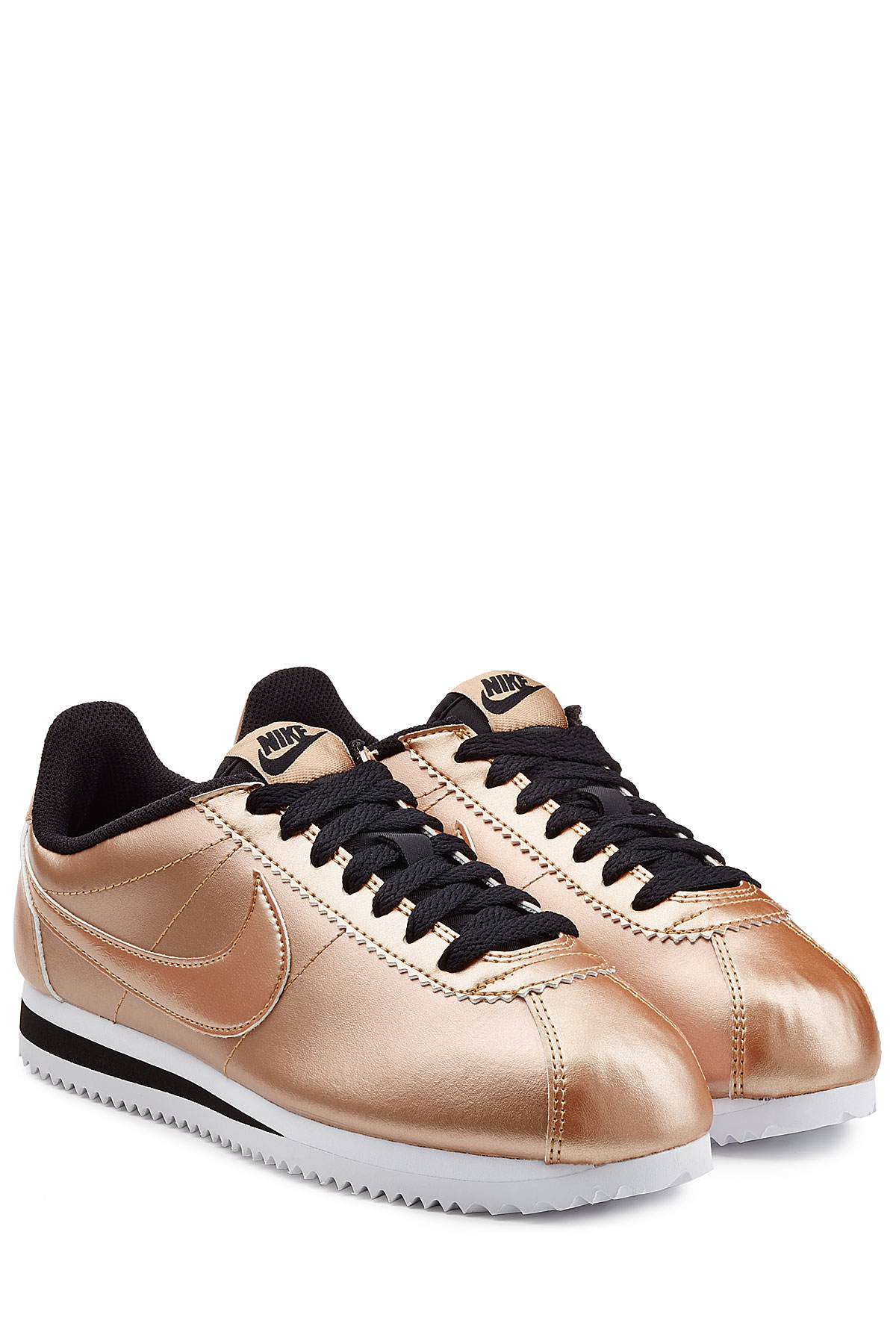 nike classic cortez metallic leather sneakers rose in. Black Bedroom Furniture Sets. Home Design Ideas
