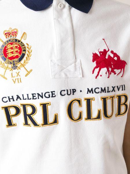 Polo Ralph Lauren Prl Club Polo Shirt In White For Men Lyst