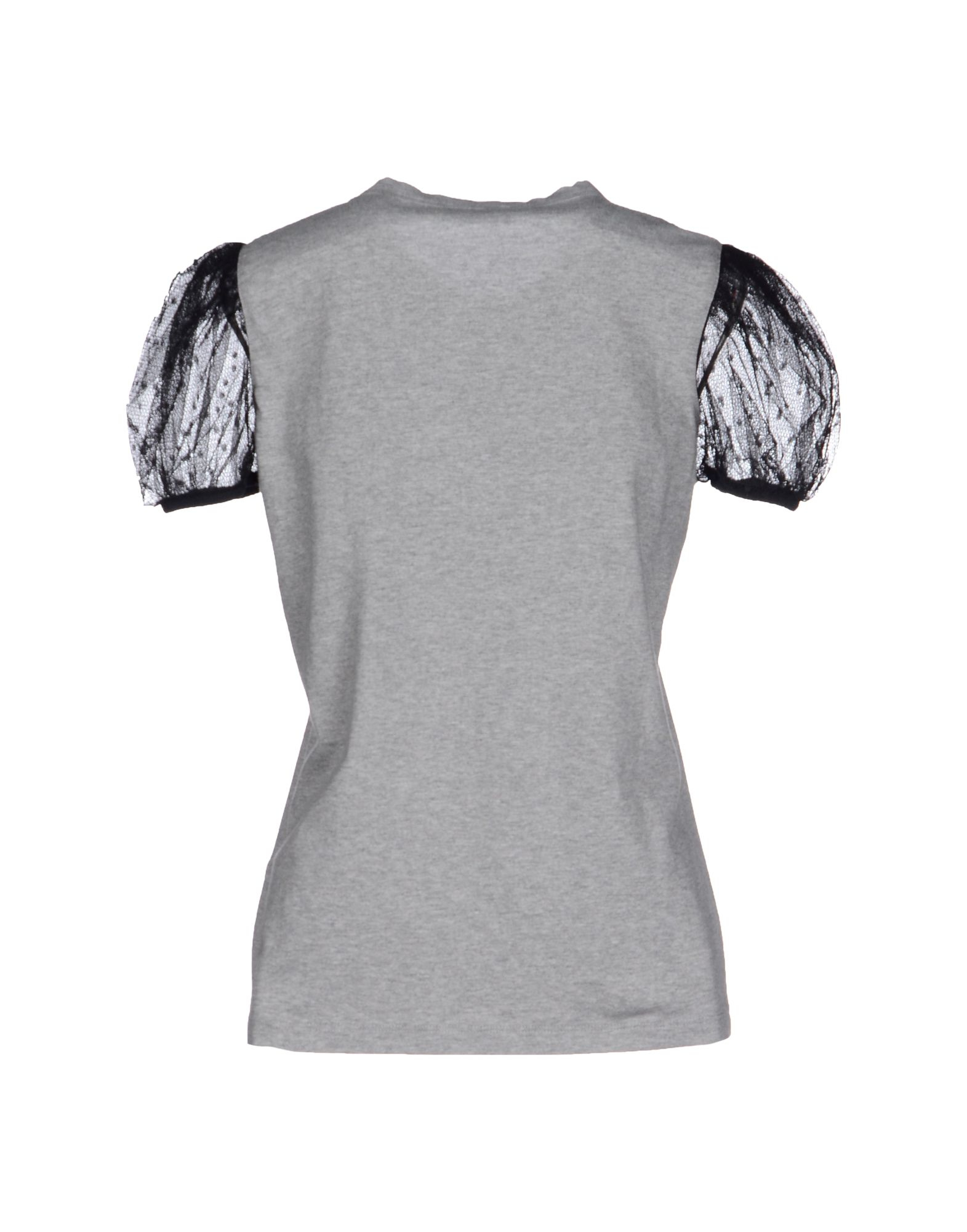 Red valentino t shirt in black lyst for Red valentino t shirt