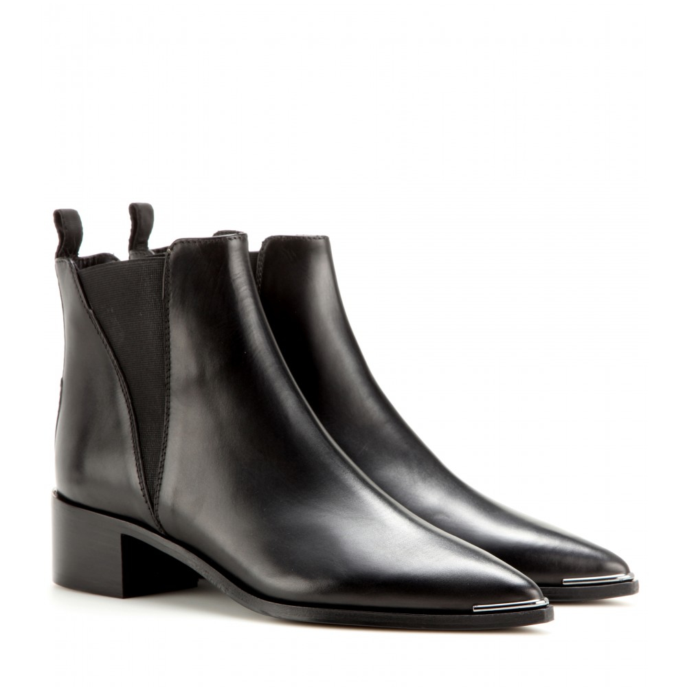 33c6fed868e8 Lyst - Acne Studios Jensen Leather Ankle Boots in Black