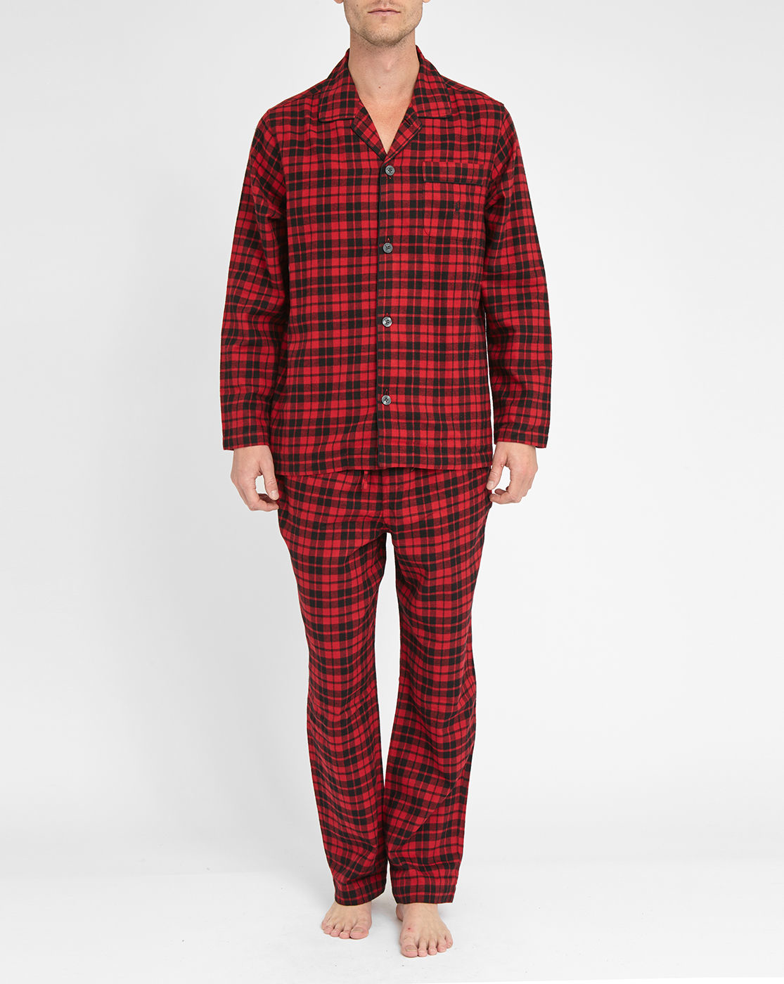 polo ralph lauren red black checked flannel pyjamas in red for men save 50 lyst. Black Bedroom Furniture Sets. Home Design Ideas