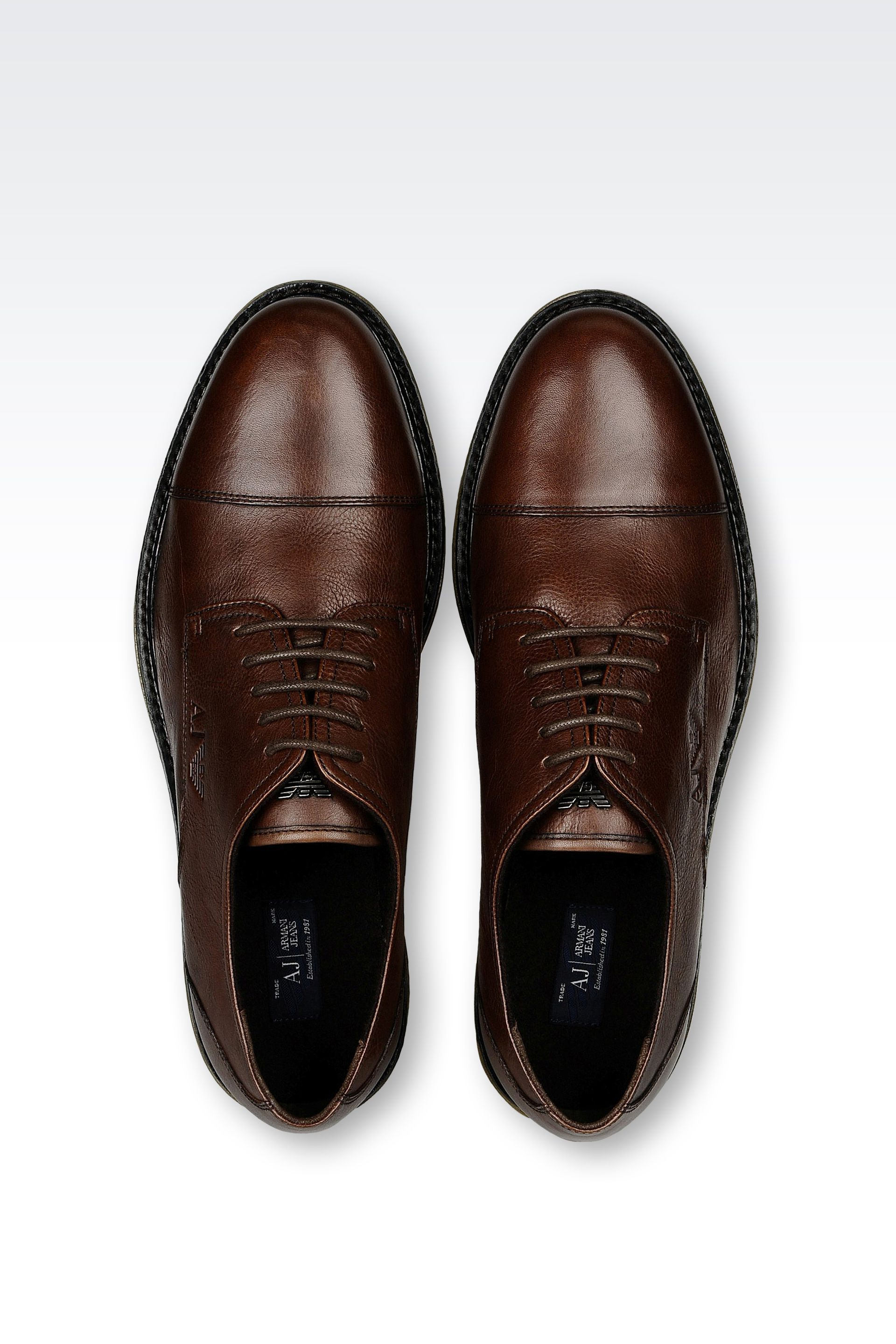 Lyst Armani Jeans Lace Up Shoe In Brown For Men