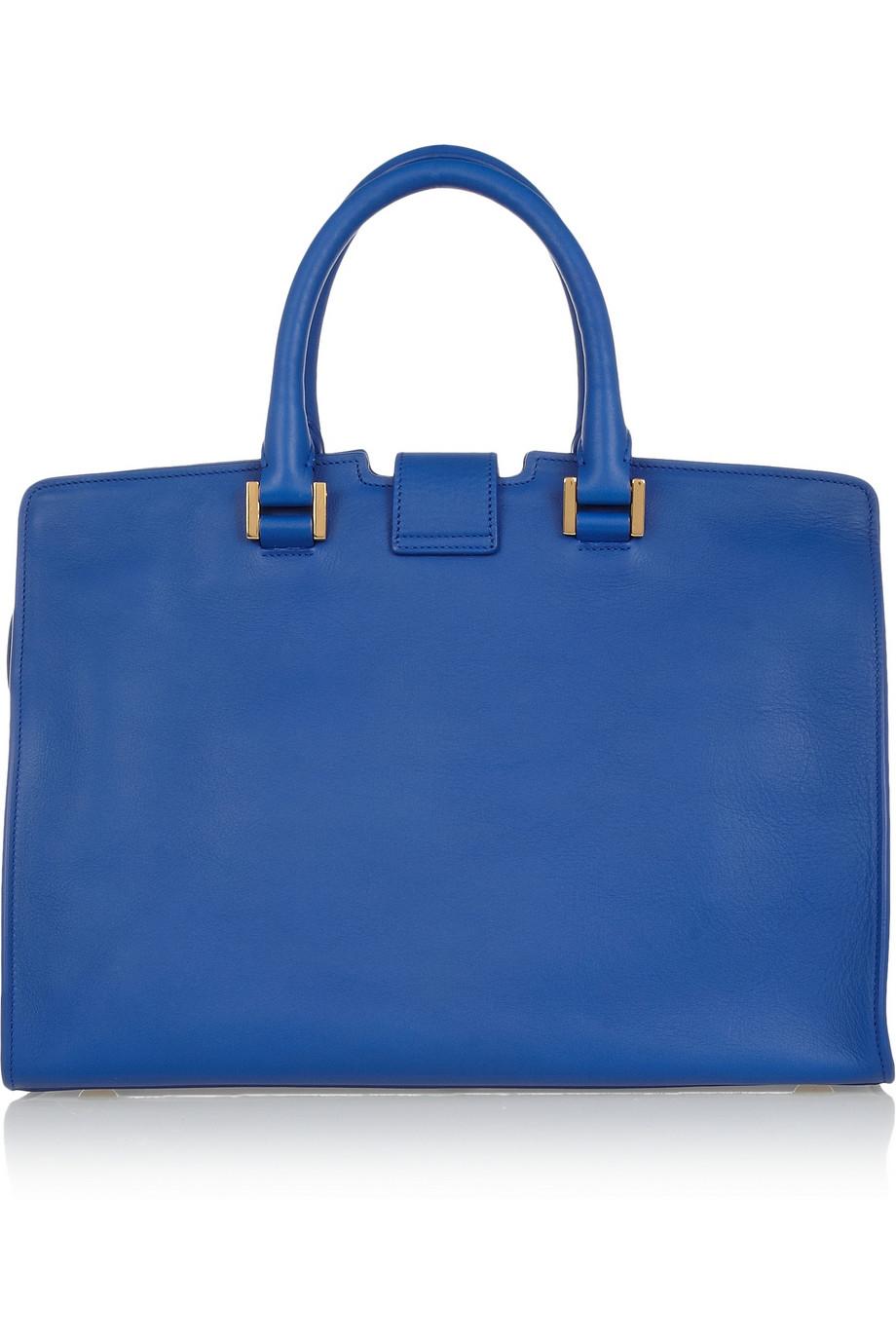 c9812081eb7f Lyst - Saint Laurent Ligne Classique Y Leather Tote in Blue