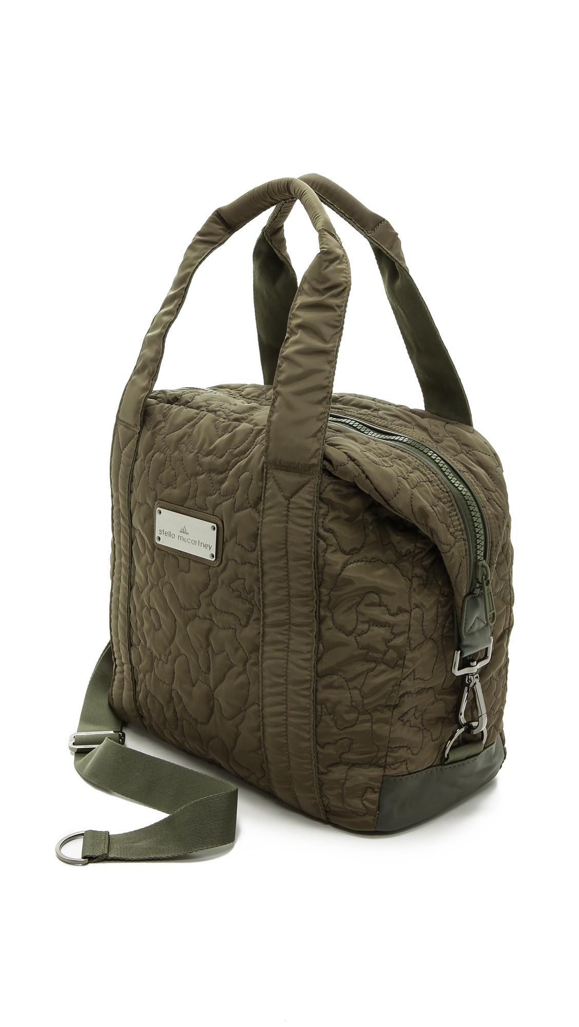 Lyst - adidas By Stella McCartney Small Gym Bag - Cargo in Green 8de07d713