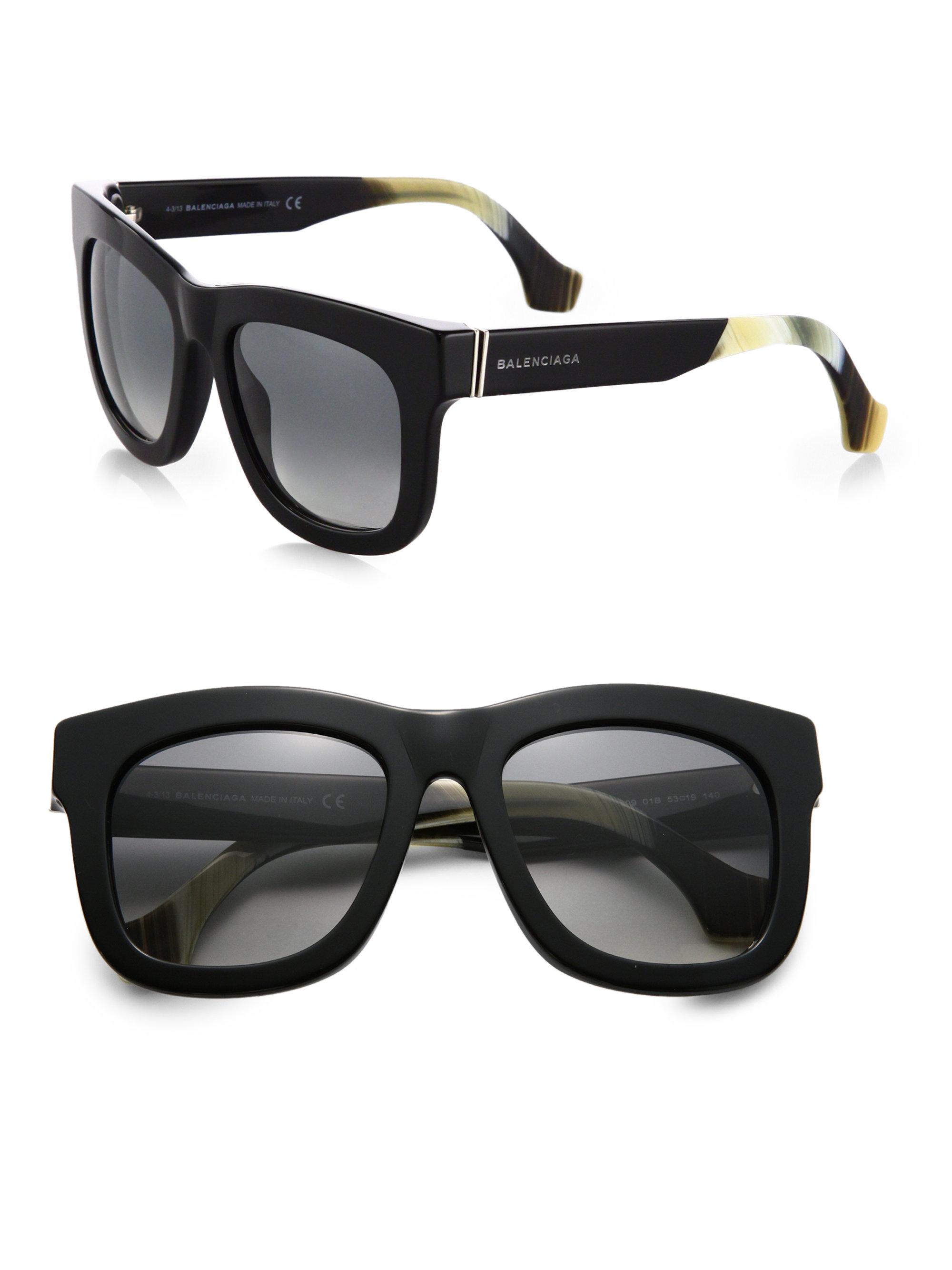 95e0c85c712b Balenciaga Oversized Square Sunglasses in Black - Lyst