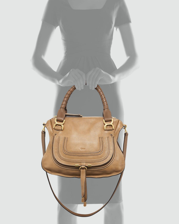 Chlo�� Marcie Medium Satchel Bag in Beige | Lyst