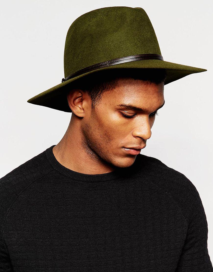 Catarzi Wide Brim Unstructured Fedora Hat in Green for Men - Lyst c3bb66dc280