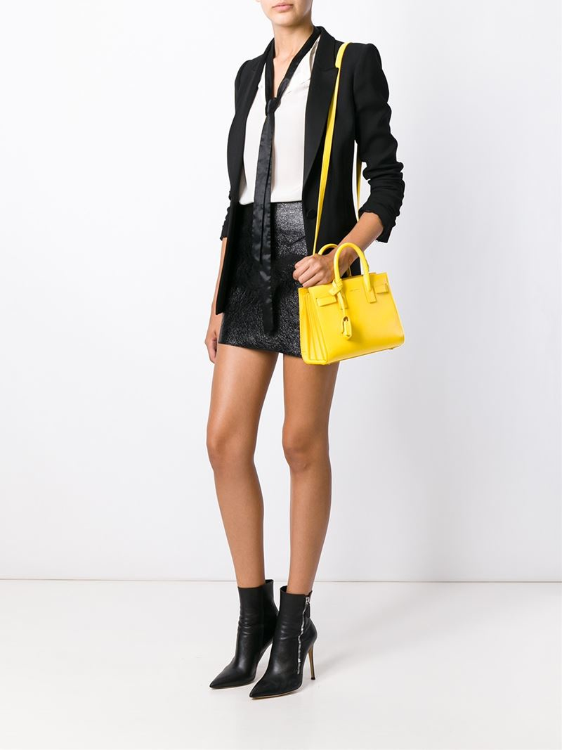 Classic De In Small Sac Leather Yellow Jour Bag n0Nwvm8