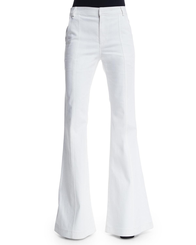 10 crosby derek lam High-waist Flare Jeans in White | Lyst