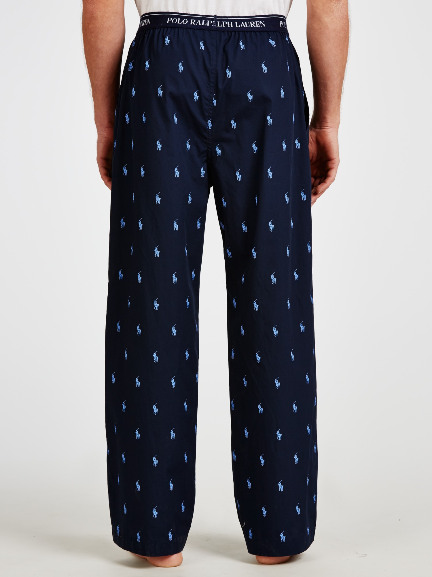 Polo Ralph Lauren Pony Print Lounge Pants In Blue For Men