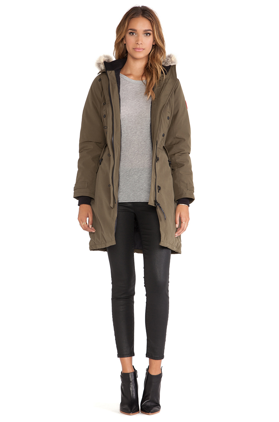 Canada Goose womens online store - Canada goose Kensington Parka With Coyote Fur Trim in Green ...
