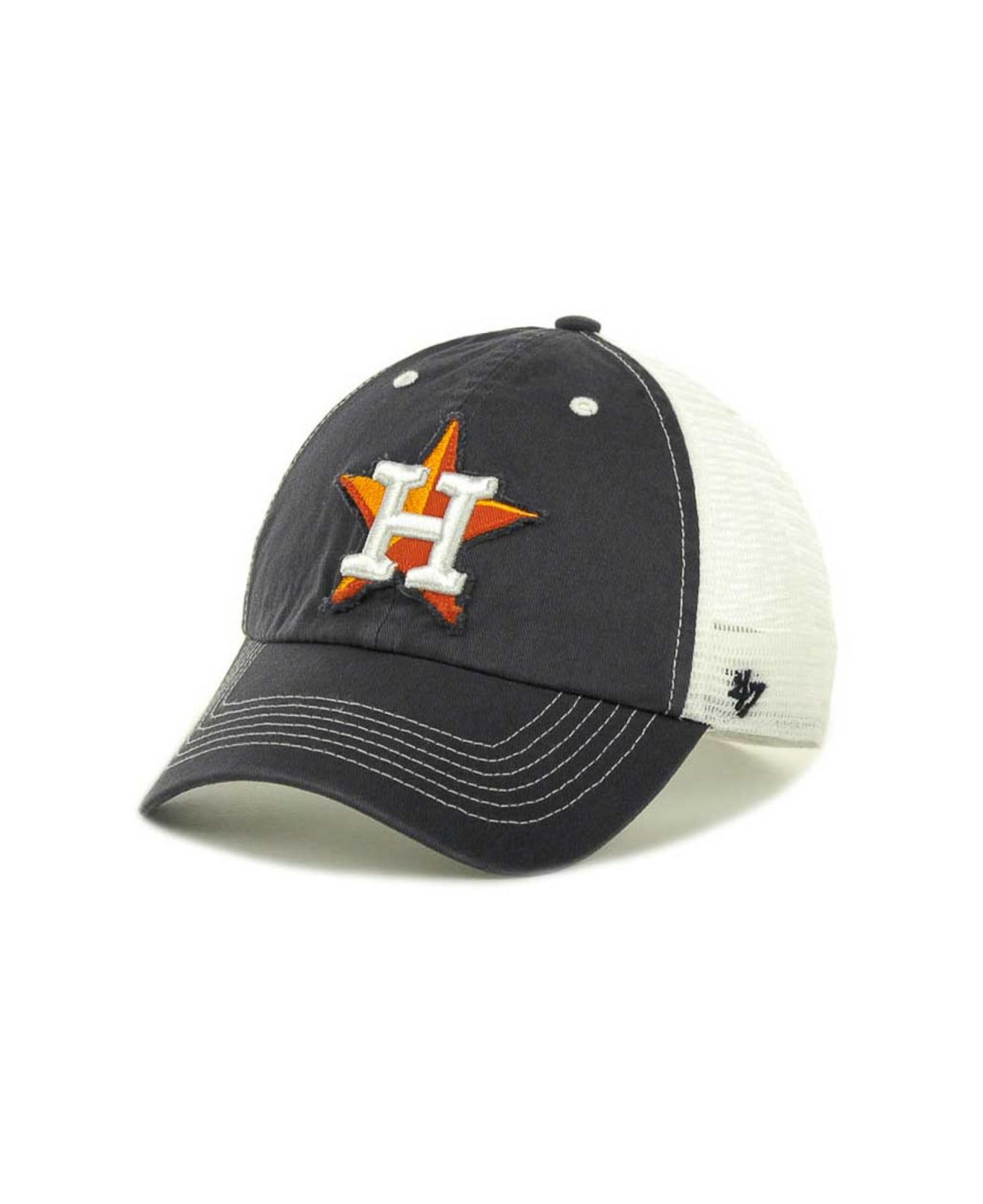 the latest d69d4 88a46 ... closeout lyst 47 brand houston astros mlb blue mountain franchise cap  in 759ee 050ec
