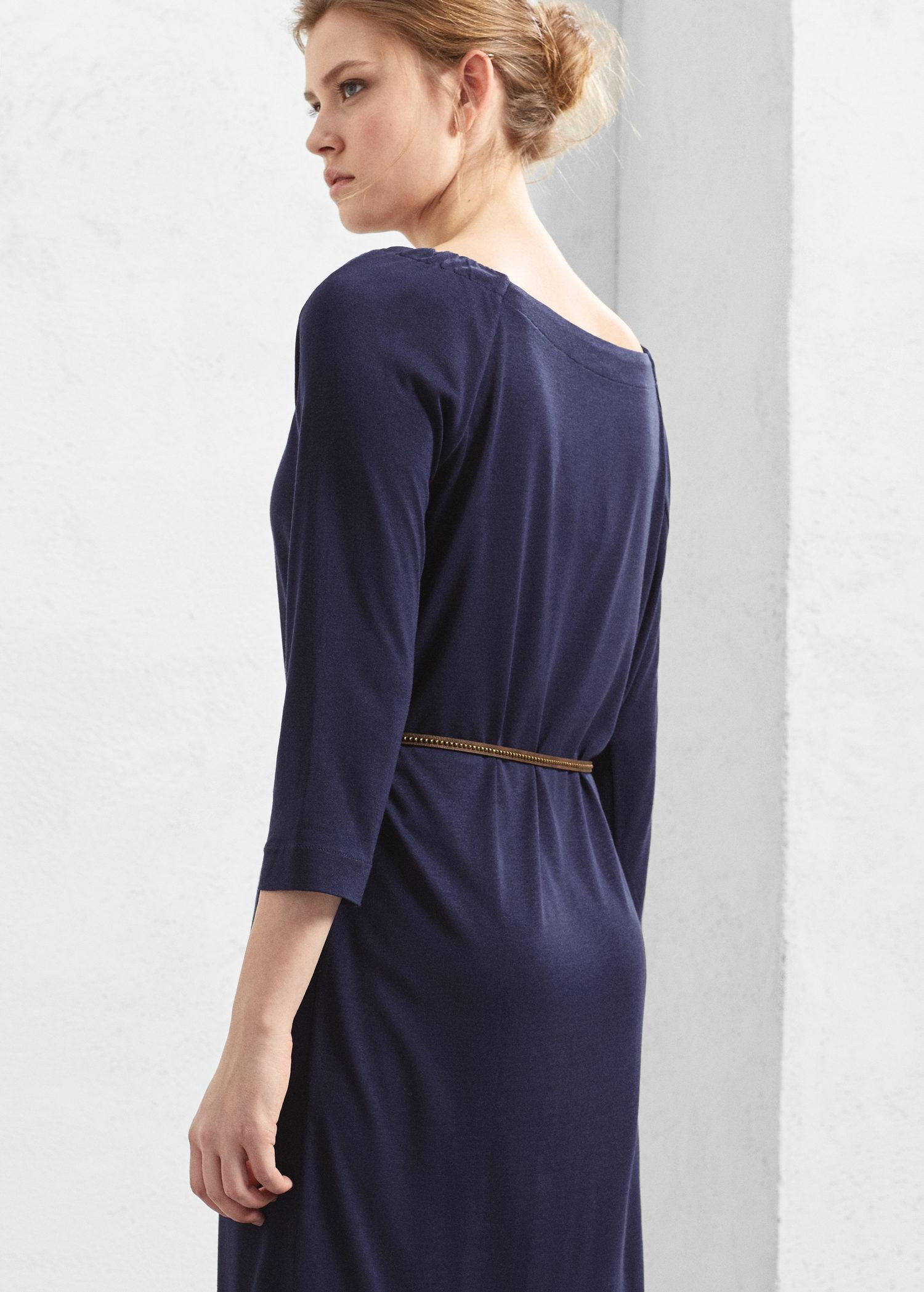 violeta by mango belt dress in blue lyst