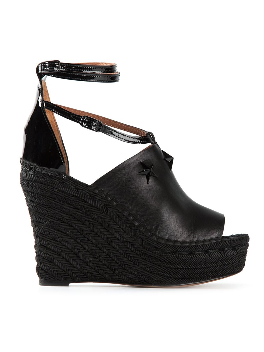 givenchy platform wedge sandals in black lyst