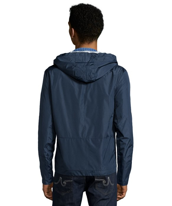 Marc new york Navy Blue Water-resistant &39brendan&39 Zip Up Hooded