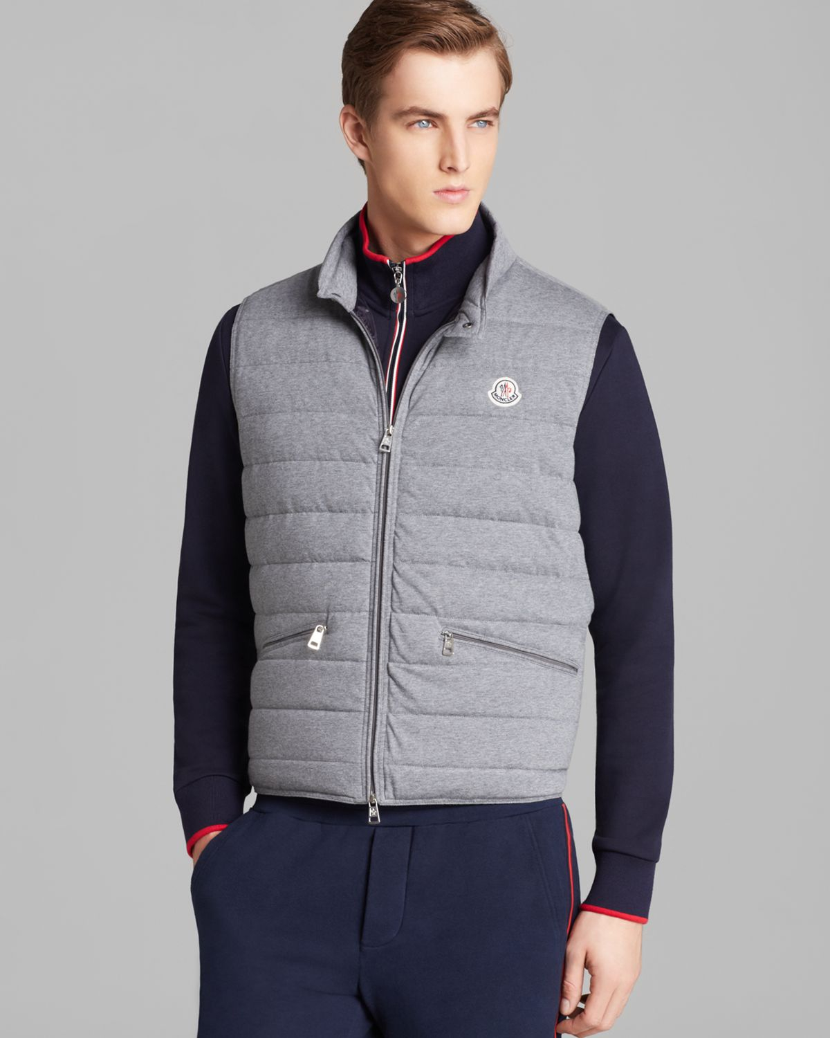moncler windbreaker grey
