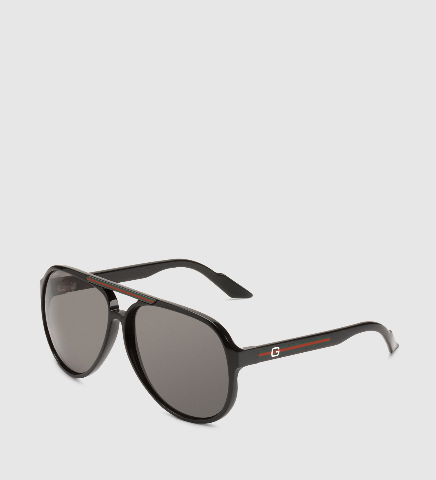 f59f6ecfc7 Gucci Medium Aviator Sunglasses With G Detail And Signature Web On Temple  in Black for Men