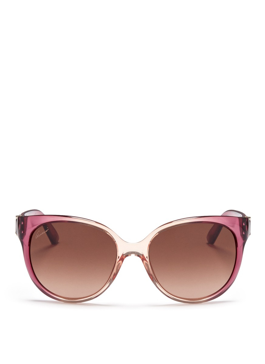 Lyst - Gucci Horsebit Hinge Ombré Acetate Sunglasses in Pink