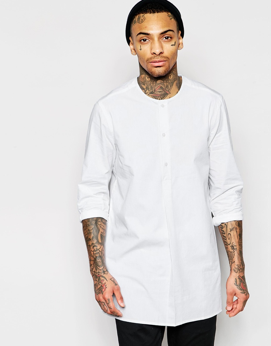 Find mens collarless shirts at ShopStyle. Shop the latest collection of mens collarless shirts from the most popular stores - all in one place.