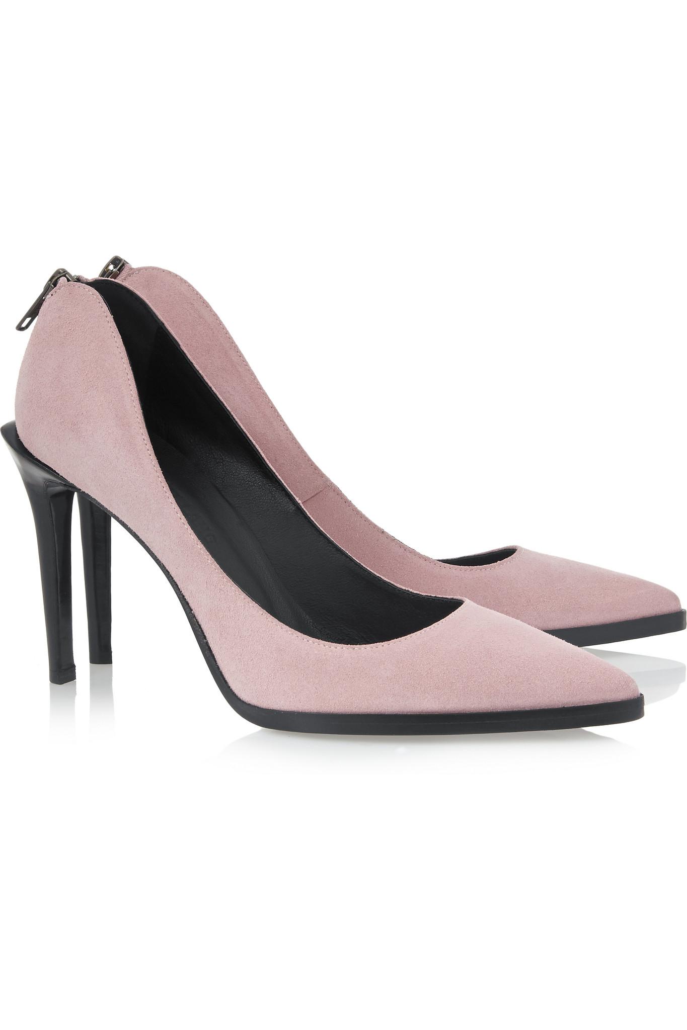Baby Pink Suede Heels