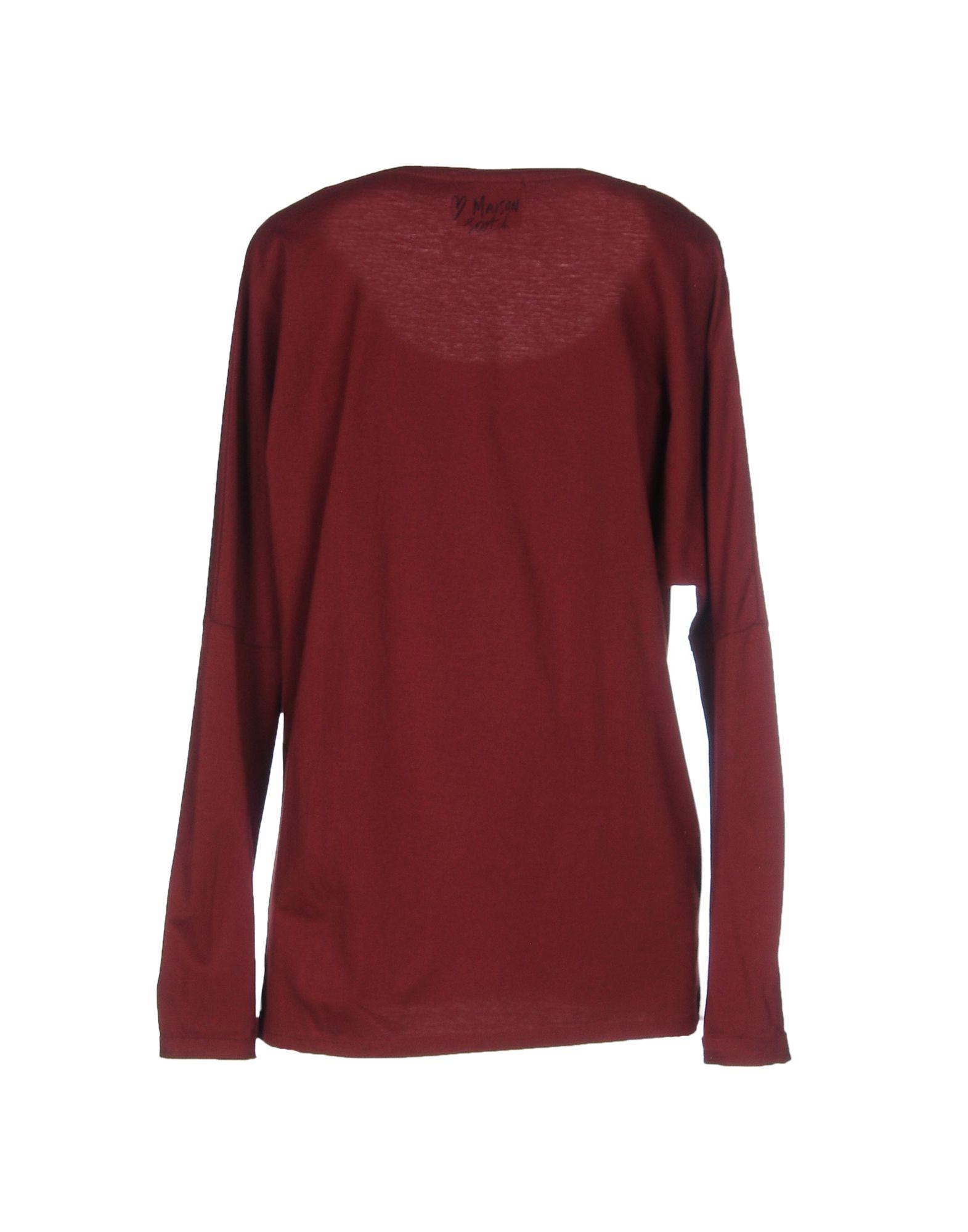 maison scotch t shirt in purple maroon lyst