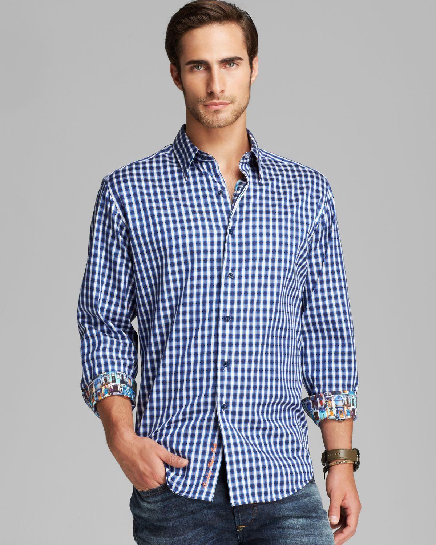 Lyst robert graham johnnie woven sport shirt classic fit for Robert graham tall shirts