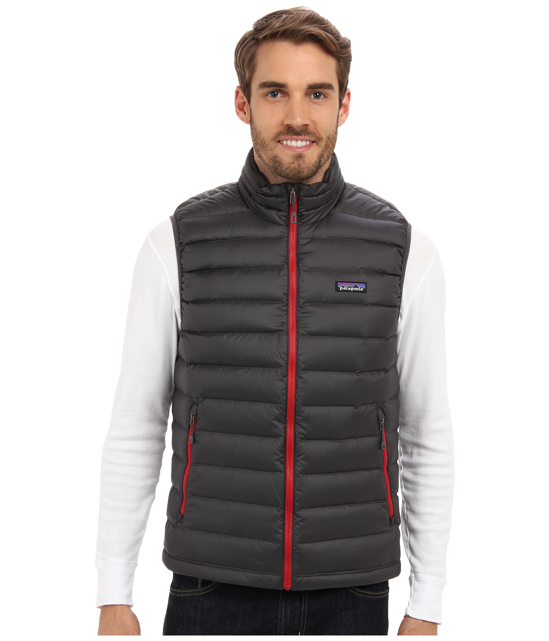 Patagonia Down Sweater Vest in Gray for Men | Lyst