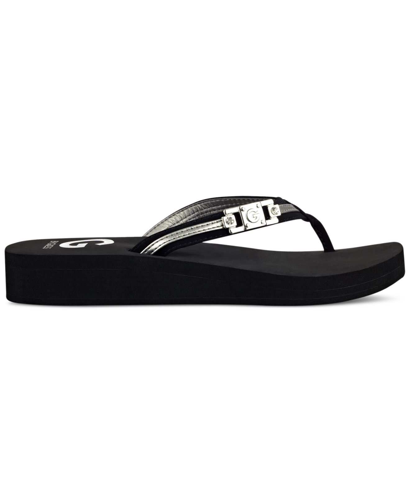 c9275b975464a Lyst - G by Guess Ali Flip-flops in Black