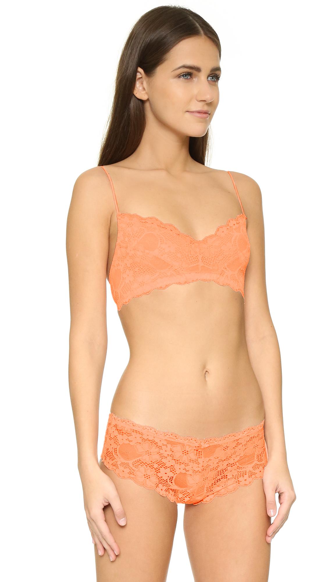 176b3ddf7e Lyst - Honeydew Intimates A Getaway Camellia Lace Bralette in Orange
