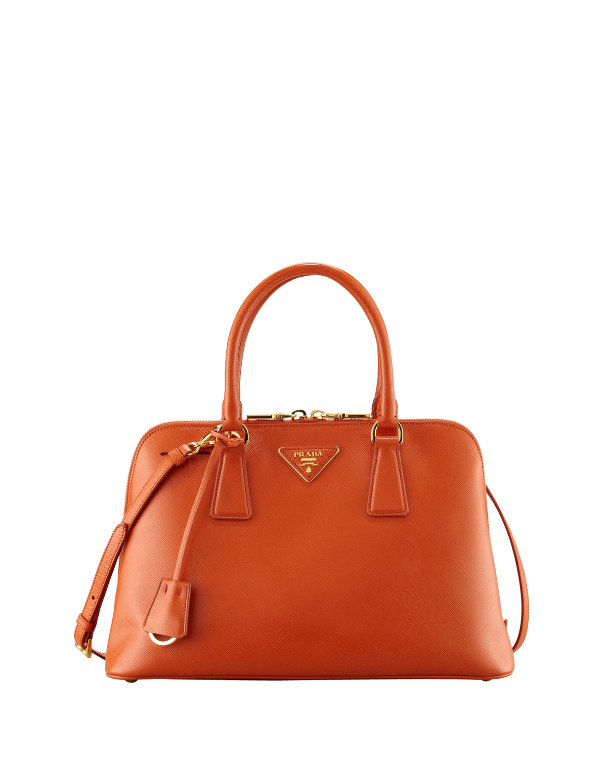 1b837c869dd6 Prada Saffiano Promenade Handbag in Orange (papaya)