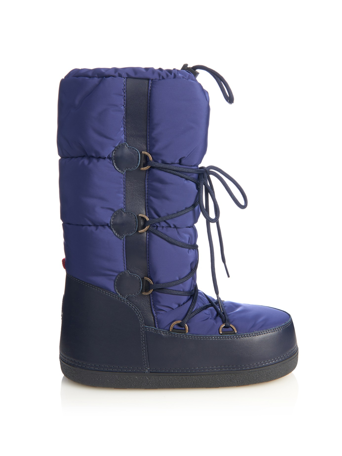 Moncler Moon Quilted Ski Boots In Blue Lyst
