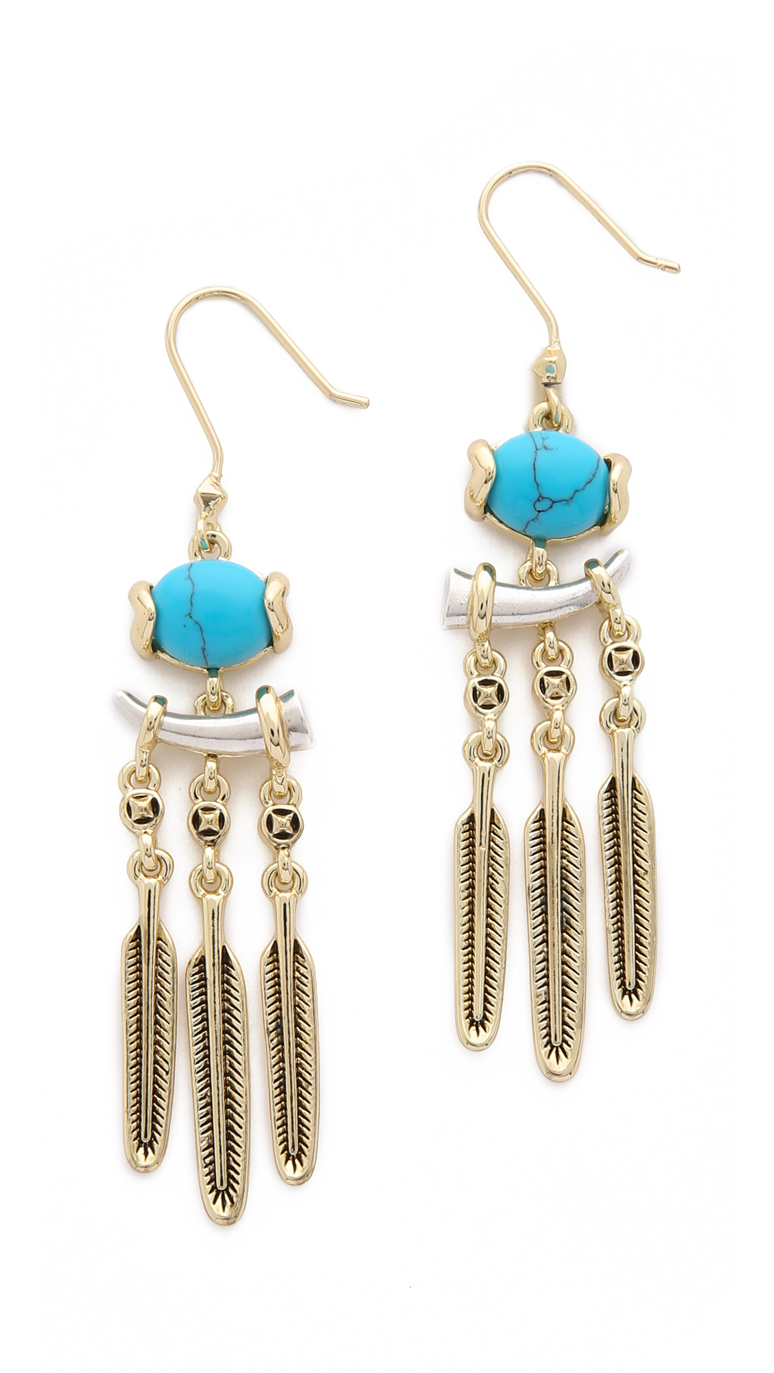 house of harlow 1960 ankolie earrings silver turquoise