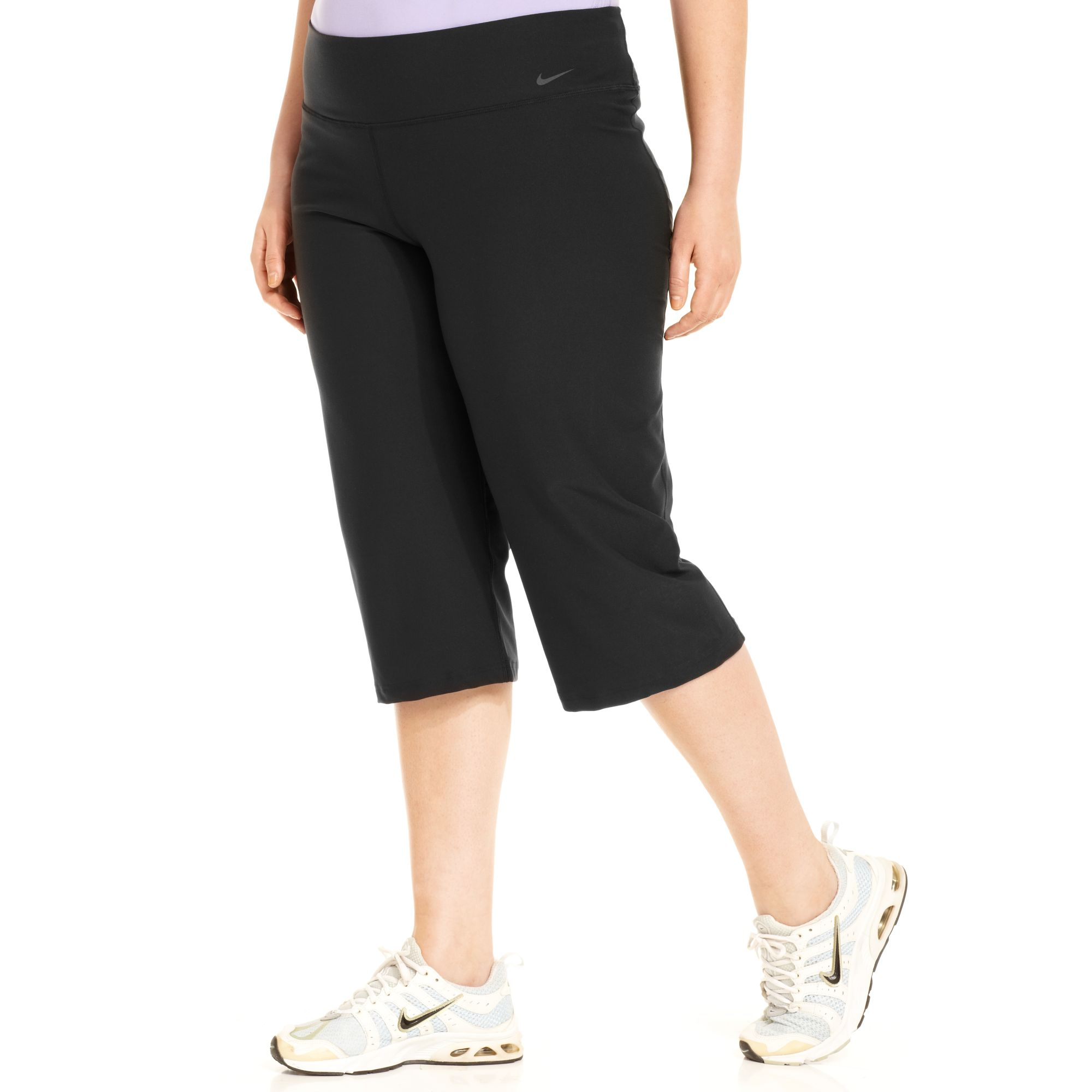 Nike Plus Size Legend Drifit Capri Pants in Black | Lyst
